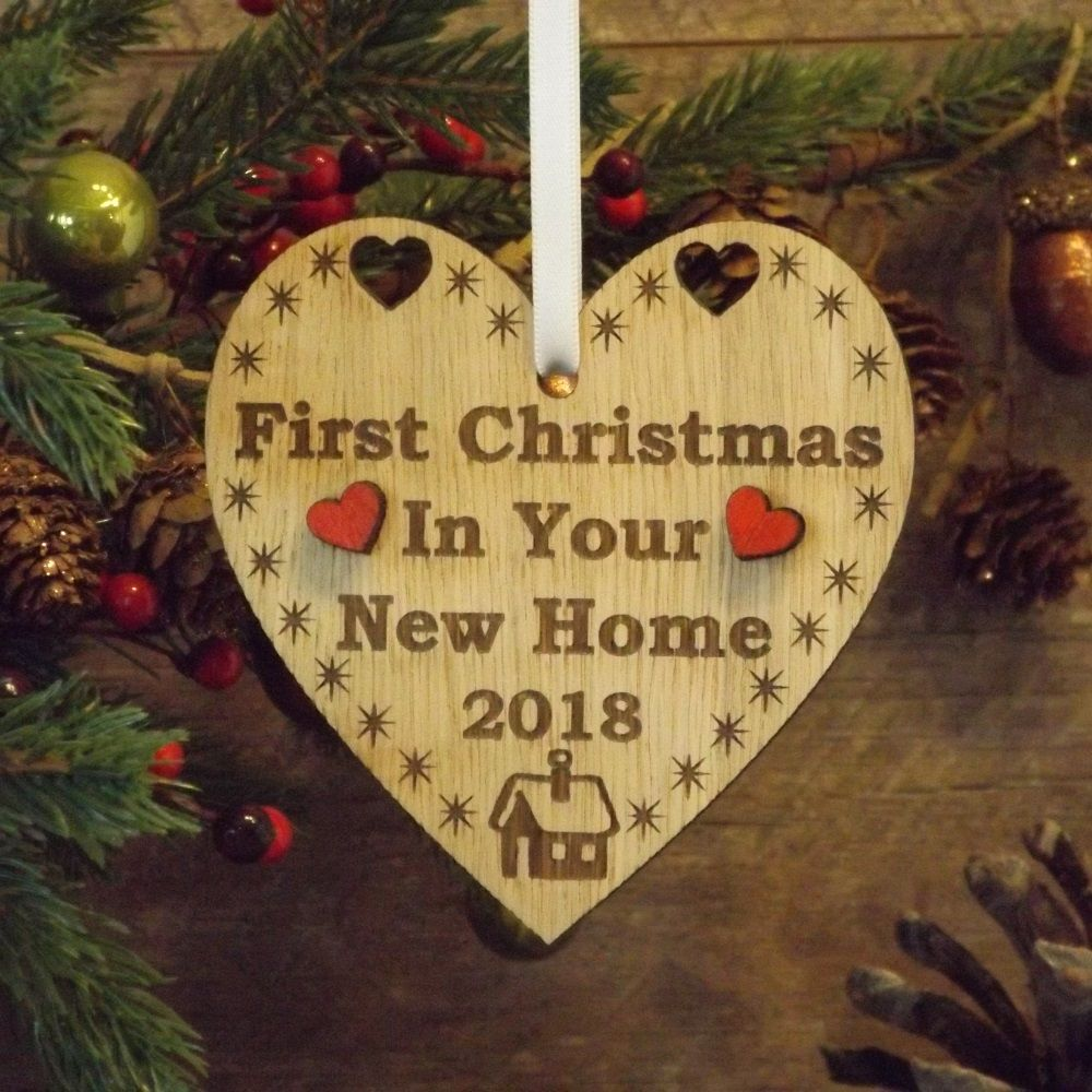 First 1st Christmas in Your New Home Heart Decoration Housewarming Gift  Keepsake